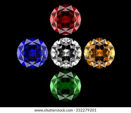 set of gems - stock photo