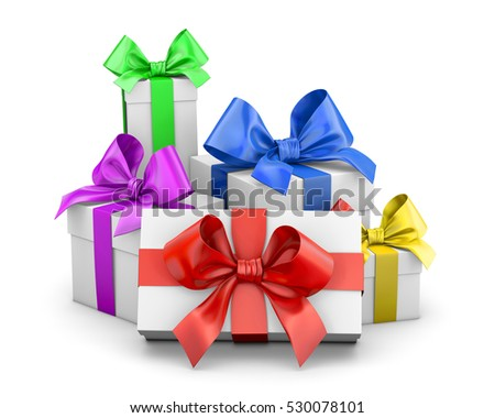 open present clipart. set of gift box isolated for christmas new yearu0027s day 3d rendering open present clipart
