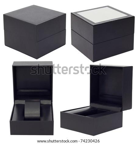 Set of gift box on a white background - stock photo