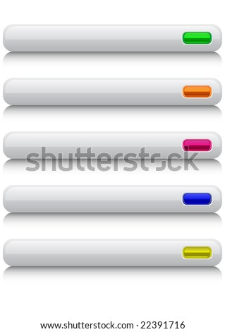 Set of glossy web buttons - stock photo