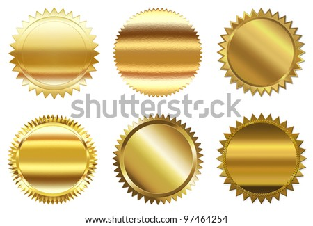 Set of golden seal
