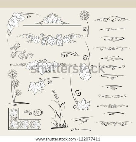 Set of graphic elements for design. - stock photo