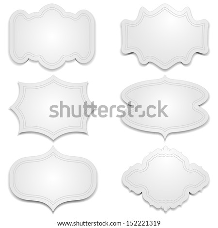 Set of greeting cards vignettes on a gray background.