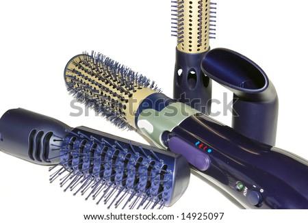 set of hair dryer - stock photo