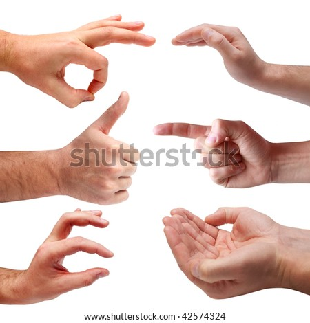 Set of hand signs