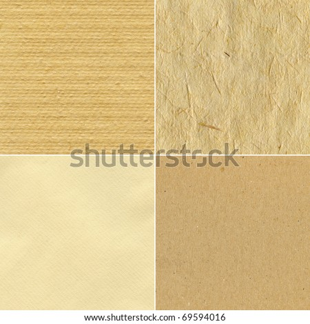 Set of handmade paper textures - stock photo