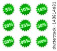 Set of icons with percent for your design - stock photo
