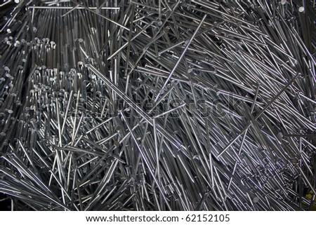 Set of iron Nails - stock photo