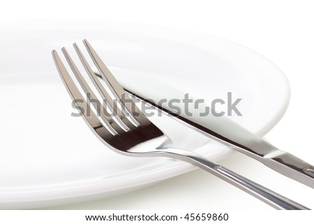 Set of kitchen object  on a white background. - stock photo