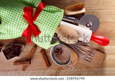 Set of kitchen utensils - stock photo