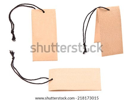 set of label (tag) isolated on white background