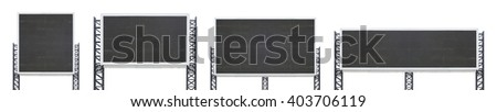 set of large sign board isolated on a white background