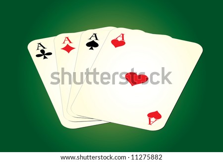 Set of leisure cards on green background. Raster illustration.