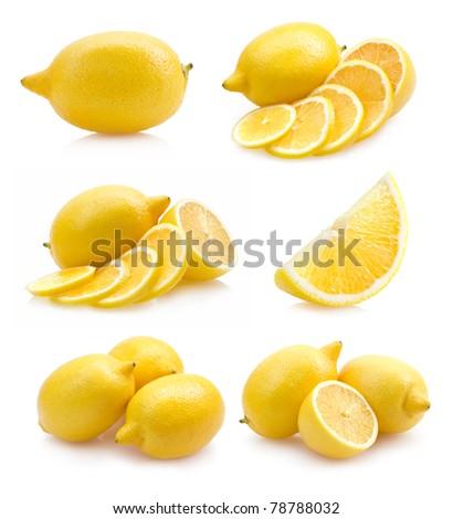 set of lemon images - stock photo