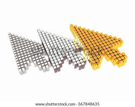 Set of Link selection computer mouse cursor on white background - stock photo