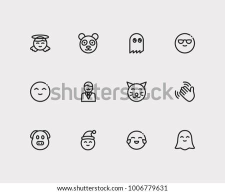 Set Man Pac Pixel Cartoon Character Stock Illustration 1006779631