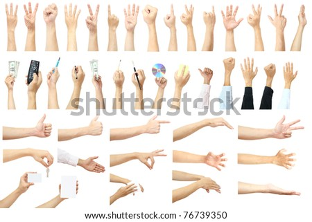set of many hands concept