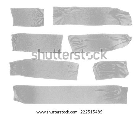 Set of masking tape on white  - stock photo