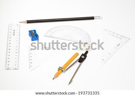 set of mathematical - stock photo