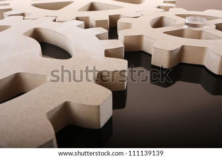 Set of MDS composite gear wheels - stock photo