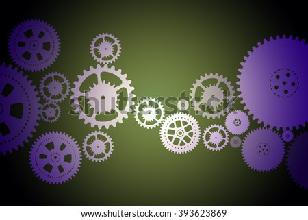 Set of mechanical gears
