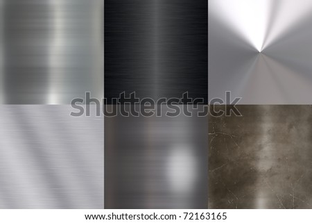 set of metal structures of the high permission - stock photo