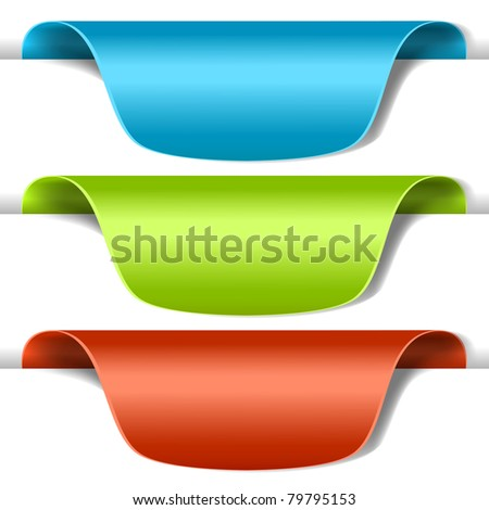 Set of multicolored tag labels - stock photo