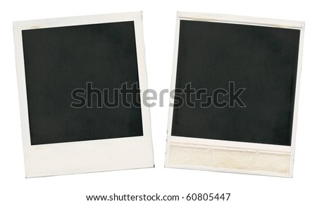Set of old blank cards isolated on white - stock photo