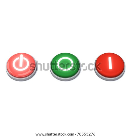Set of on / off buttons - stock photo