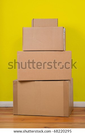 Set of package. Ready for moving day. - stock photo