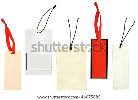 Set of paper labels - stock photo