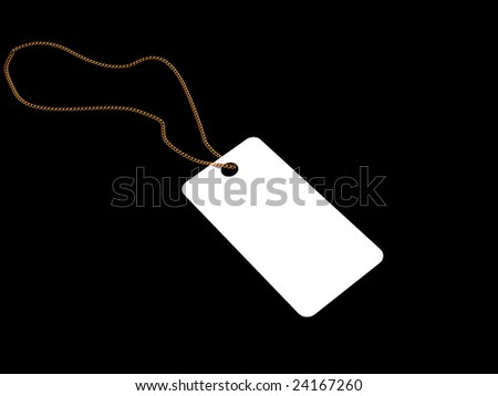 "Set Of Paper Tags Isolated On Black Background. ""3D"""