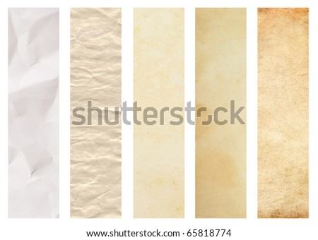 Set of paper texture - stock photo