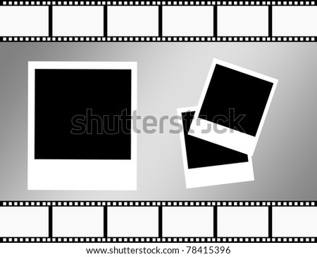 set of photographs over gray background.illustration