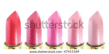 set of pink lipsticks in assortment
