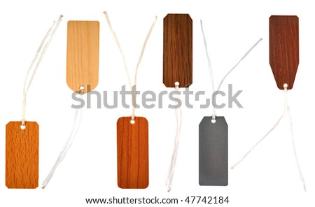 set of plastic labels - stock photo