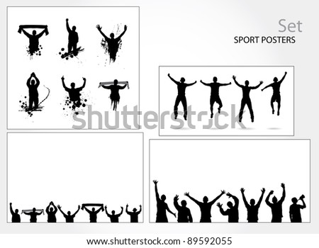Set of posters for sports championships