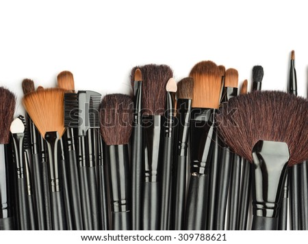 Set of professional make up brushes  - stock photo