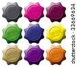 set of quality seals - stock photo