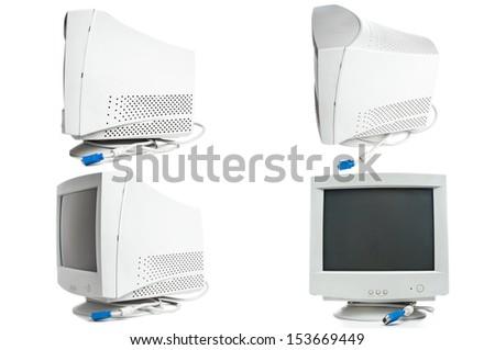 Set of retro monitors - stock photo