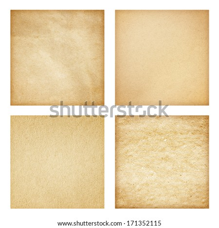 Set of Rough paper texture - stock photo
