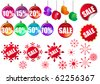Set of sale icons. Raster version. Vector version is in my gallery - stock photo