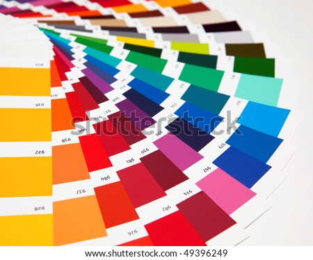 Set of samples of various colours - stock photo