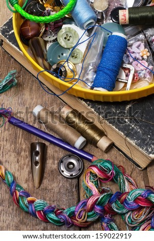 set of seamstress for needlework