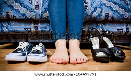 set of shoes - stock photo