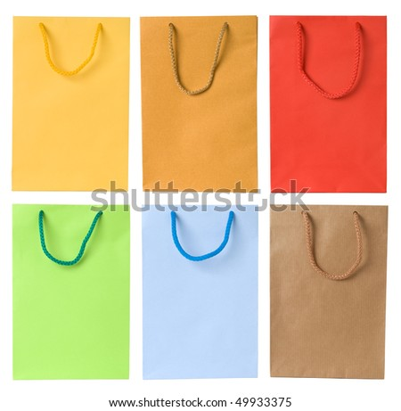 Set of shopping bags - stock photo
