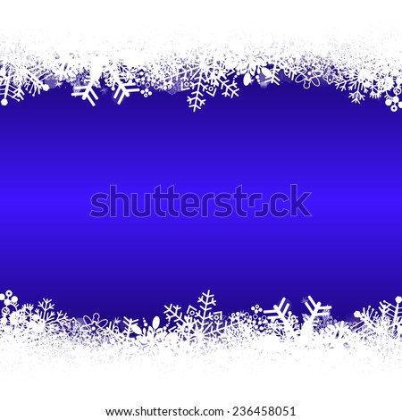 set of snowflakes for background, illustration version - stock photo