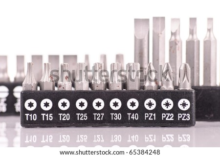 Set of Special Star Head Screwdriver Extensions - stock photo