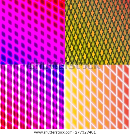 Set of splash color abstract  glowing  background. .  illustration - stock photo