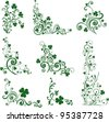 Set of St. Patrick's Day. Collection of design elements isolated on White background.  illustration - stock vector